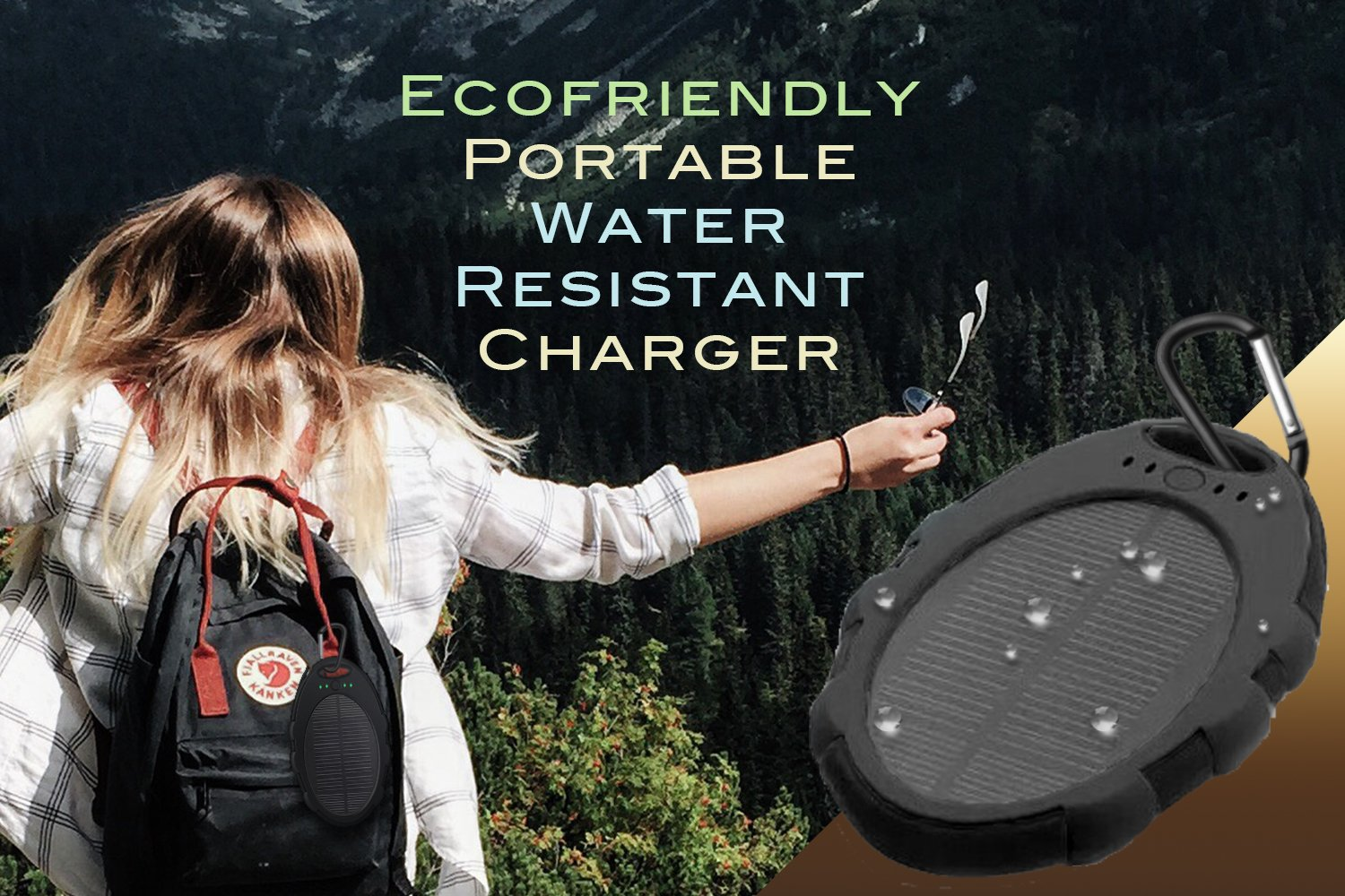 5,000mAh Portable Solar Power Bank Charger, Battery Pack, 2 USB Port +Flash Light +Charger Cable Water Resistant, Led indicator External Battery Backup, For all Cell phones, Smart Phone Tablet, Laptop by Tundras (Image #2)