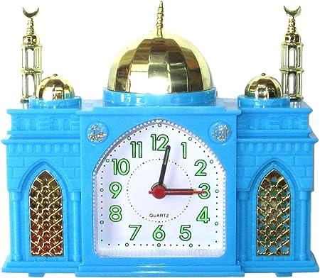 R/éveille-matin Horloge Musulman Vert sonne Azan Appel Islamique /à la Pri/ère en forme comme une Mosqu/ée