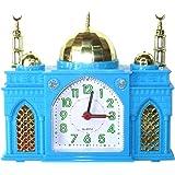 """Réveille-matin - en forme comme une Mosquée - sonne """"Azan"""" Appel Islamique à la Prière - Horloge Musulman Bleu"""