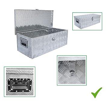 Praktische Universale Deichselbox Alu Werkzeugbox Staubox