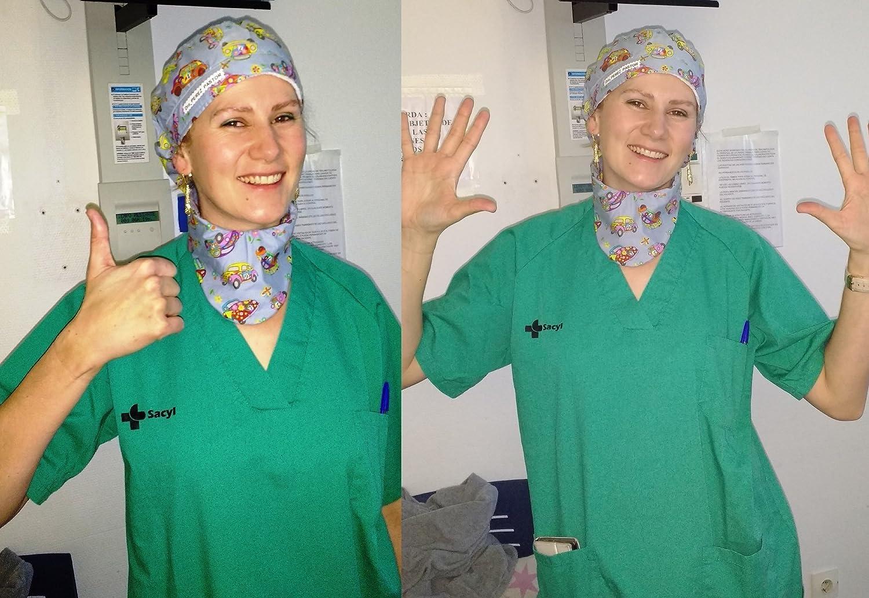 Berretto chirurgico donna. gattini bianchi per capelli lunghi