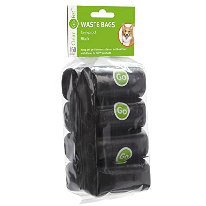 6734dd7e8931 Clean Go Pet Replacement Dog Waste Bags, 20-Count Rolls, Durable, Leakproof  Plastic Poop Bags, Black