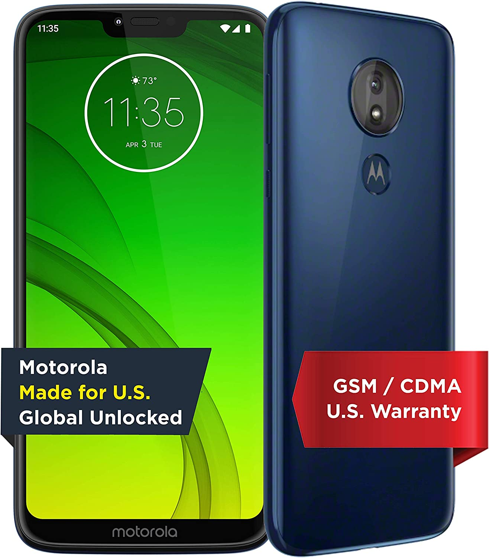 Amazon Com Motorola Moto G7 Power Unlocked 32 Gb Marine Blue Us Warranty Verizon At T T Mobile Sprint Boost Cricket Metro
