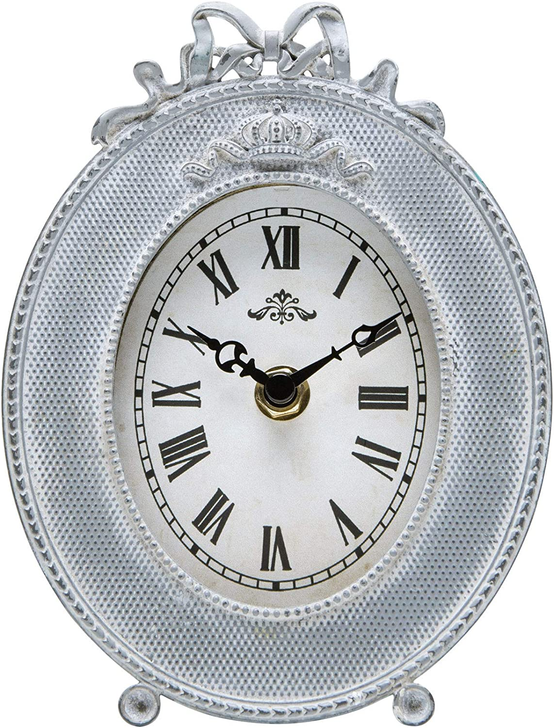 NIKKY HOME Vintage Table Clock, Decor Battery Operated Quartz Desk Clock 5.2'' by 2.2'' by 7.1''
