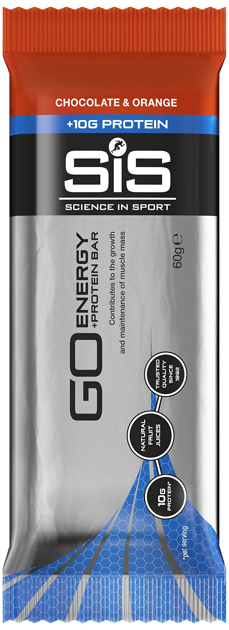 Science in Sport GO Energy Plus Protein Bar, Chocolate and Orange, 60 g, Pack of 24 product image