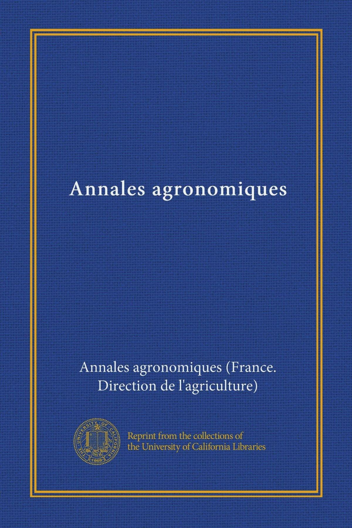 Annales agronomiques (ser.2 v.20) (French Edition) pdf epub