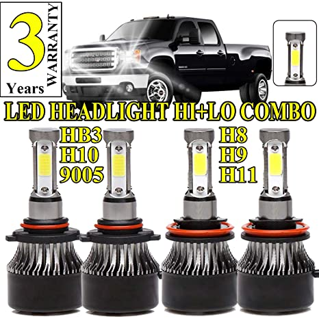 LED Headlight Bulbs For GMC Sierra 1500/2500HD/3500HD (2007-2013)