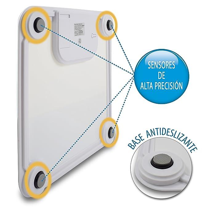 TM Electron TMPBS030 - Báscula de baño digital, display XXL, color blanco: Amazon.es: Salud y cuidado personal