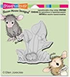 """Stampendous HMCV28 Violet Nap House Mouse Cling Stamp, 3.5"""" by 4"""", Grey"""
