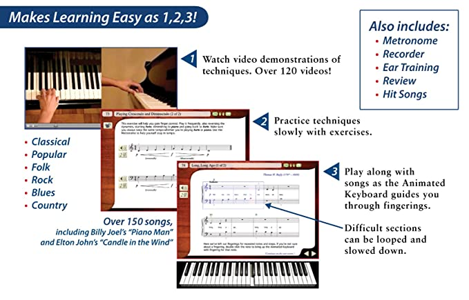 Amazon Emedia Play Piano Pack Deluxe With 450 Interactive