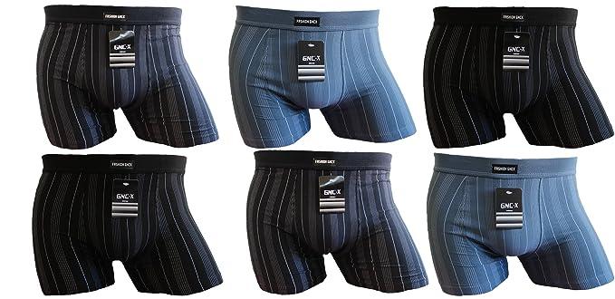 GNC-X Ropa Interior Calzoncillos Boxer para Hombre (XXL-Paquete de 6)