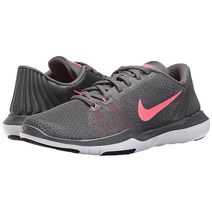 e216b32b85e92 ... NIKE Womens Flex Supreme TR 5 Wide Shoes Grey HOT Punch White Black  Size 10 ...