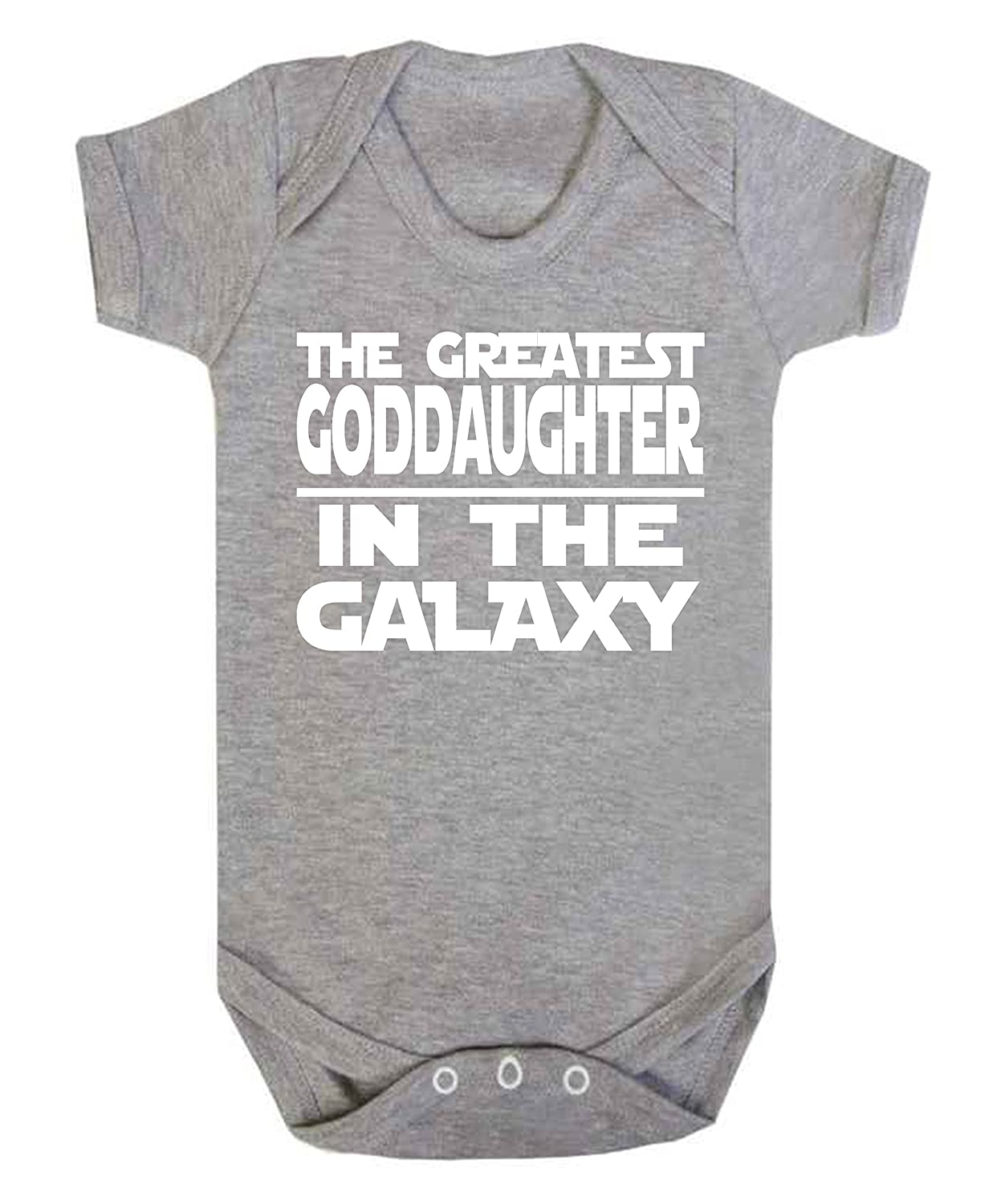 3-6 Months Greatest GodDaughter in the Galaxy Star Wars Novelty baby vest sleepsuit babygrow onesie Baby girl gifts funny Jedi Grey