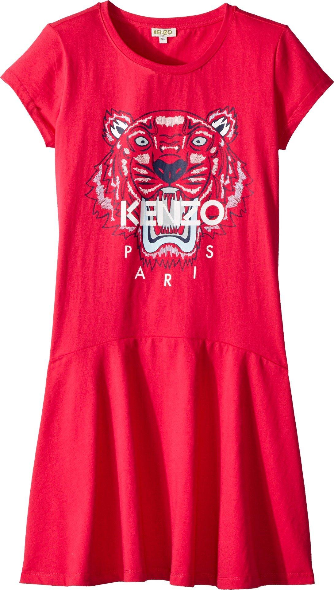 Kenzo Kids Girl's Dress Classic Tiger (Big Kids) Fuchsia 14
