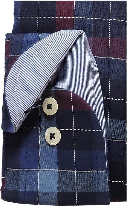 M bis XXL Giordano Regular Fit Langarmhemd in marine hellblau beige Streifen Gr