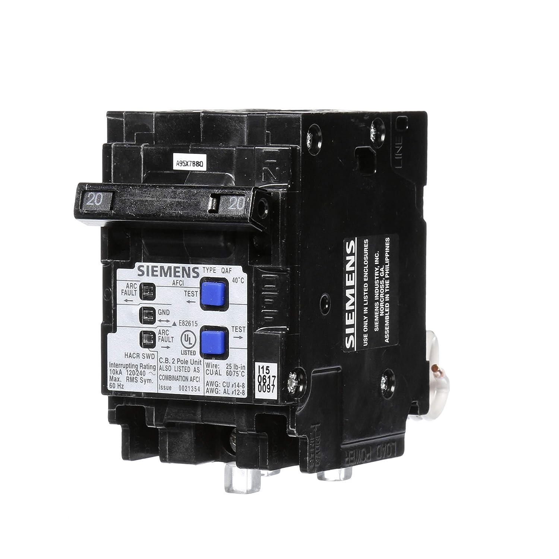 Siemens Q215AFCP 2-Pole 120-Volt combination type arc fault circuit interrupter Siemens -HI US2:Q220AFCP