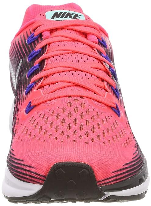 Nike Women's Air Zoom Pegasus 34 Running Shoe (Solar RedMetallic SilverBlack, Size 6 US)