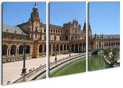 Plaza de espania en Sevilla como Lienzo, diseño enmarcado en ...