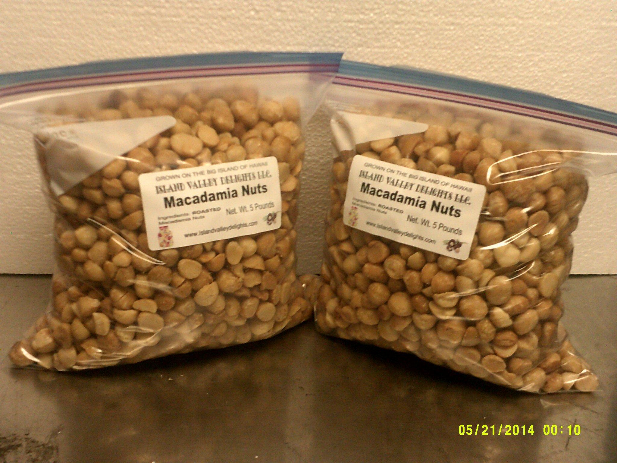 10 lb. Roasted Macadamia Nuts, unsalted