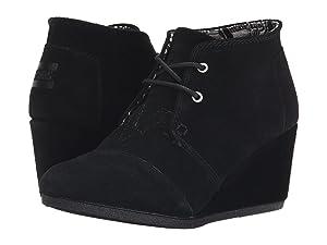 TOMS Desert Wedge Boot - Women's (8 B(M) US, Black.)