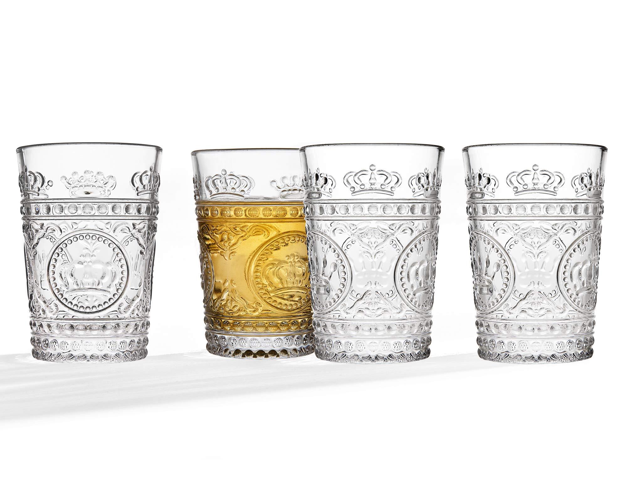 Studio Silversmiths Crown Set Four 80z Juice Glass