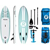 "iRocker Inflatable ALL-AROUND Stand Up Paddle Board 10' Long 32"" Wide 6"" Thick SUP Package"