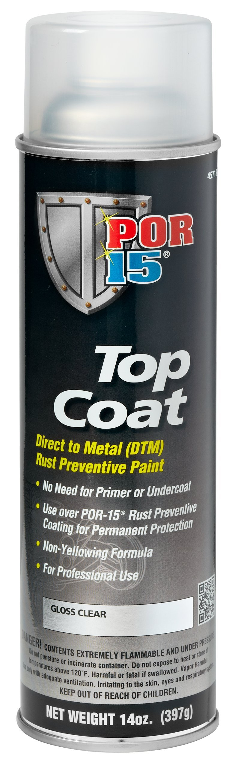 POR-15 45718 Clear Top Coat - 14 oz.