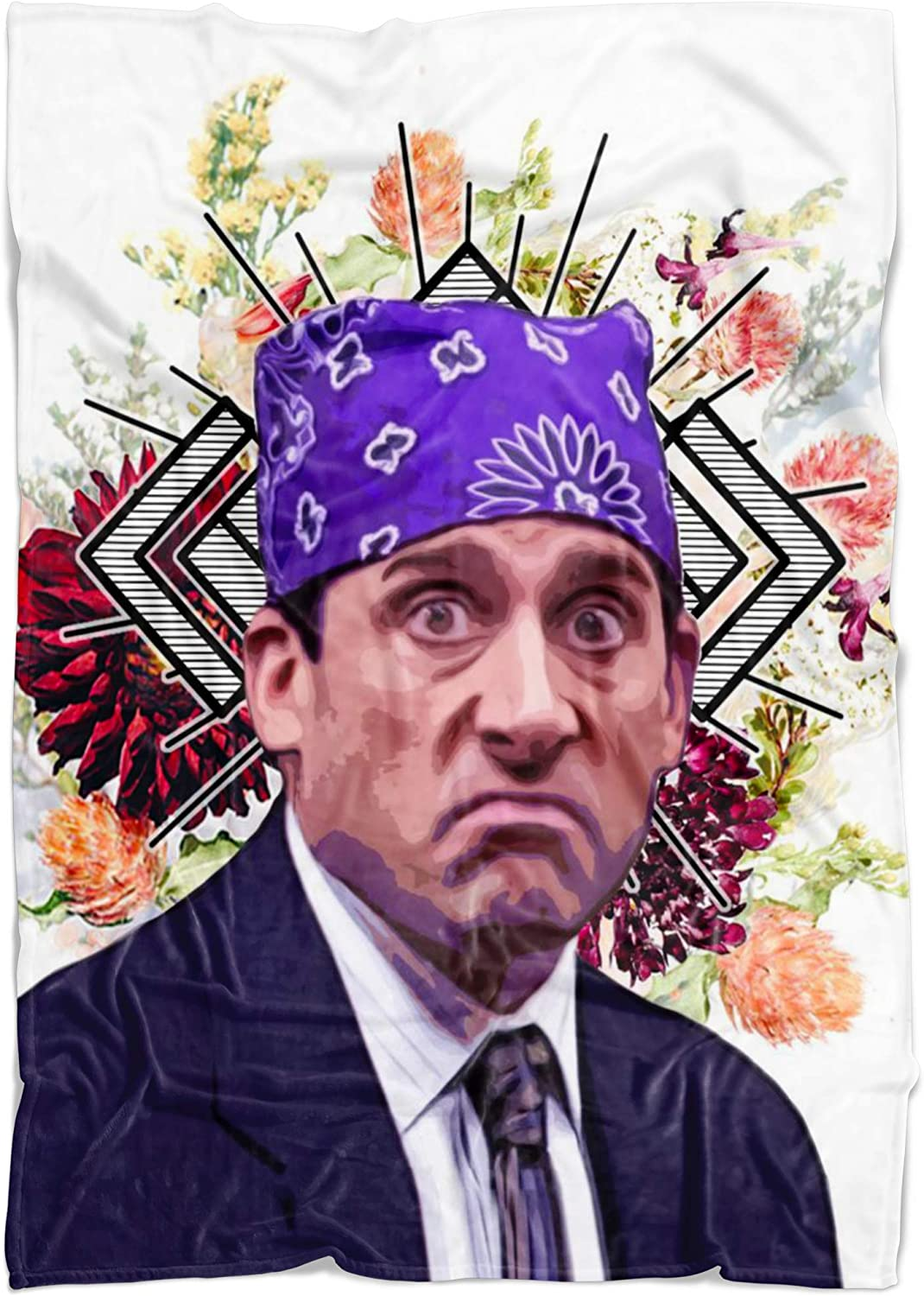 Prison Mike Fleece Throw Blanket - The Office TV Show Funny Gift - Michael Scott Home Decor Blanket, Funny Blankets for Adults, The Office Meme Gift