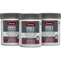 Swisse Men's Ultivite Tablets, Men's Daily Multivitamin, Three Pack (120 Tablets/Bottle), Premium Formula of Vitamins…