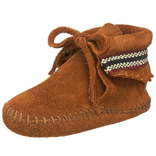 Minnetonka Braid Bootie, Mocasines para Bebés: Amazon.es: Zapatos y complementos