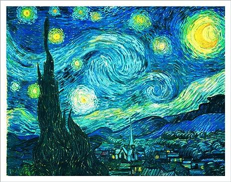 Amazon.com: Vincent Van Gogh Starry Night Decorative Fine Art ...