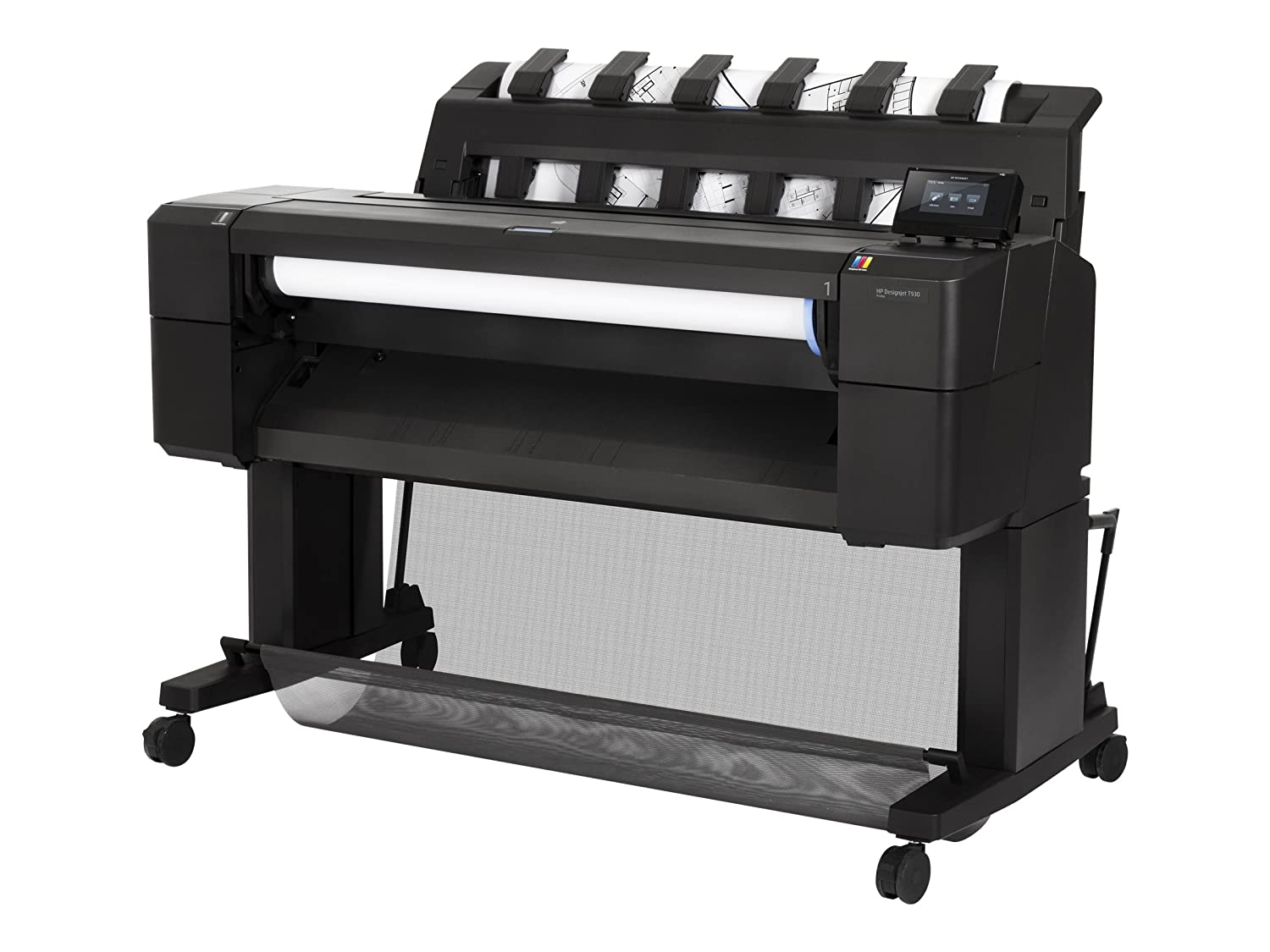 HP Designjet T930 - Imprimante grand format (HP-GL / 2, HP-RTL, TIFF, URF, 2400 x 1200 DPI, Cyan, Gris, Magenta, Noir mat, Photo Noir, Jaune, A0 (841 x 1189 mm) 3 x 22 x 3 x 3, Injection d'encre thermique) Injection d' encre thermique) L2Y21A