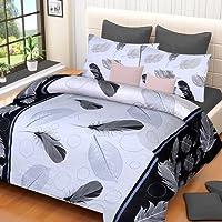 Home Elite Dynamic Print 120 TC Cotton Double Bedsheet with 2 Pillow Covers - Floral, Multicolour