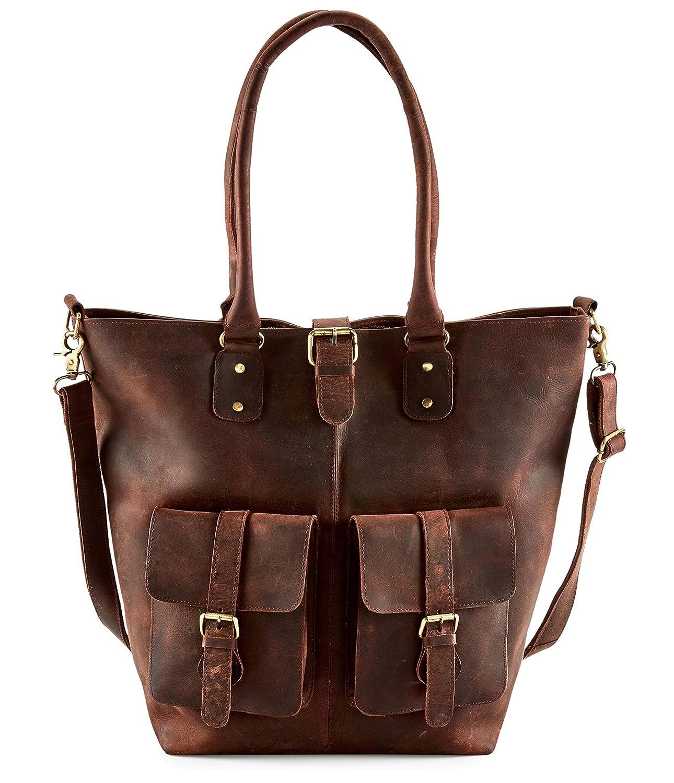Vintage real leather handbags for women Tote Bag for Women Large laptop tote shoulder Purse Handbag bag women