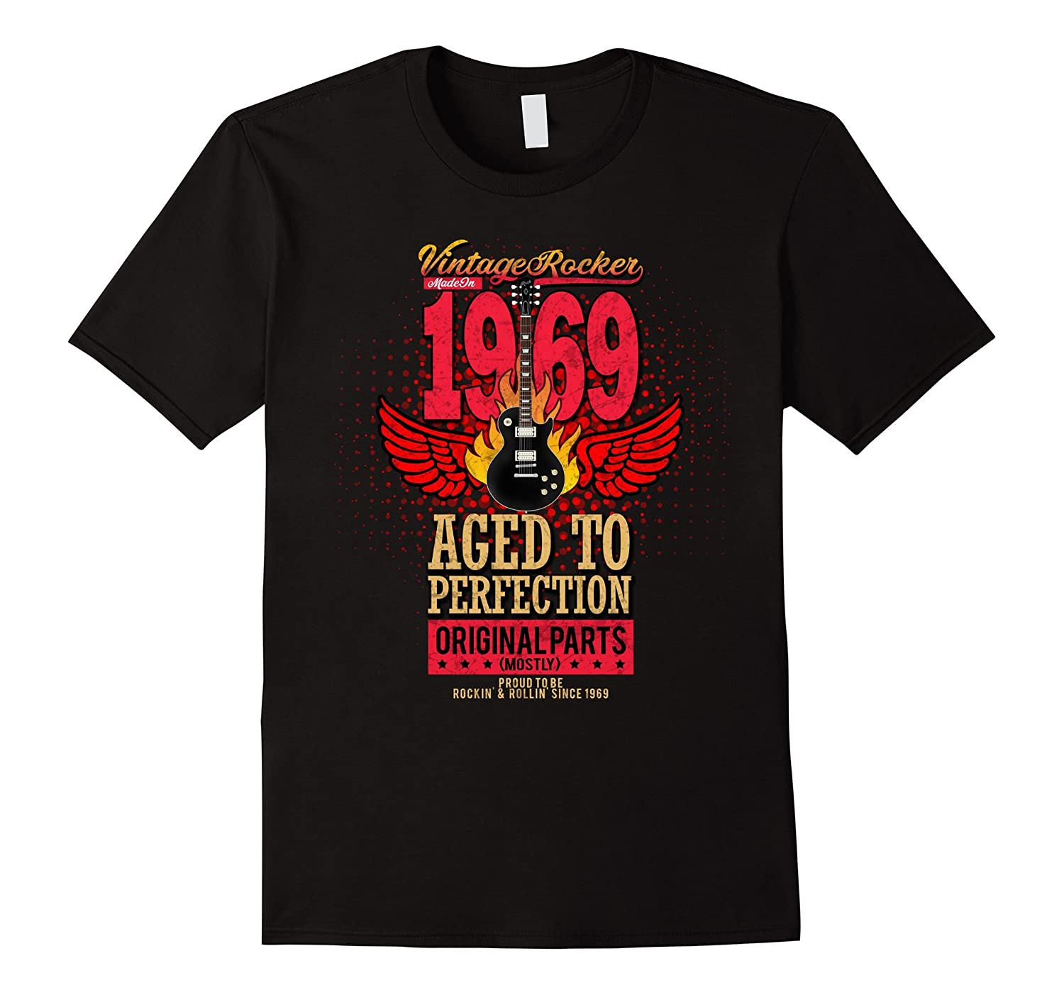 1969 Birthday Gift Vintage Rocker Aged To Perfection Shirt-TD