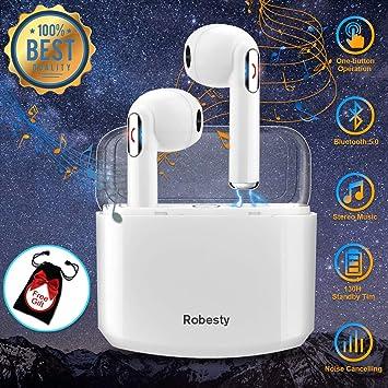Auriculares Bluetooth,Auriculares inalámbricos Bluetooth Auriculares Bluetooth Deportivos Cascos inálambrico Estéreo In Ear Auriculares con Micrófono para ...