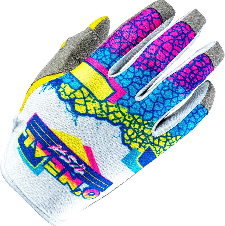 ONEAL Mayhem Crackle 91 MX DH FR Handschuhe wei/ß//gelb//blau 2020 Oneal