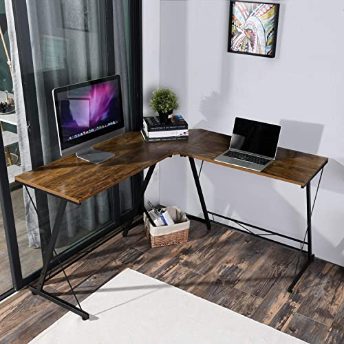 Homycasa L Shaped Desk 50.6 Computer Desk. The L Home Office Desk