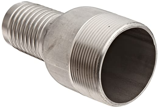 Dixon RST2025 Stainless Steel 316 Hose Fitting Jump Size King Combination Nipple 2 NPT Male x 1-1//2 Hose ID Barbed