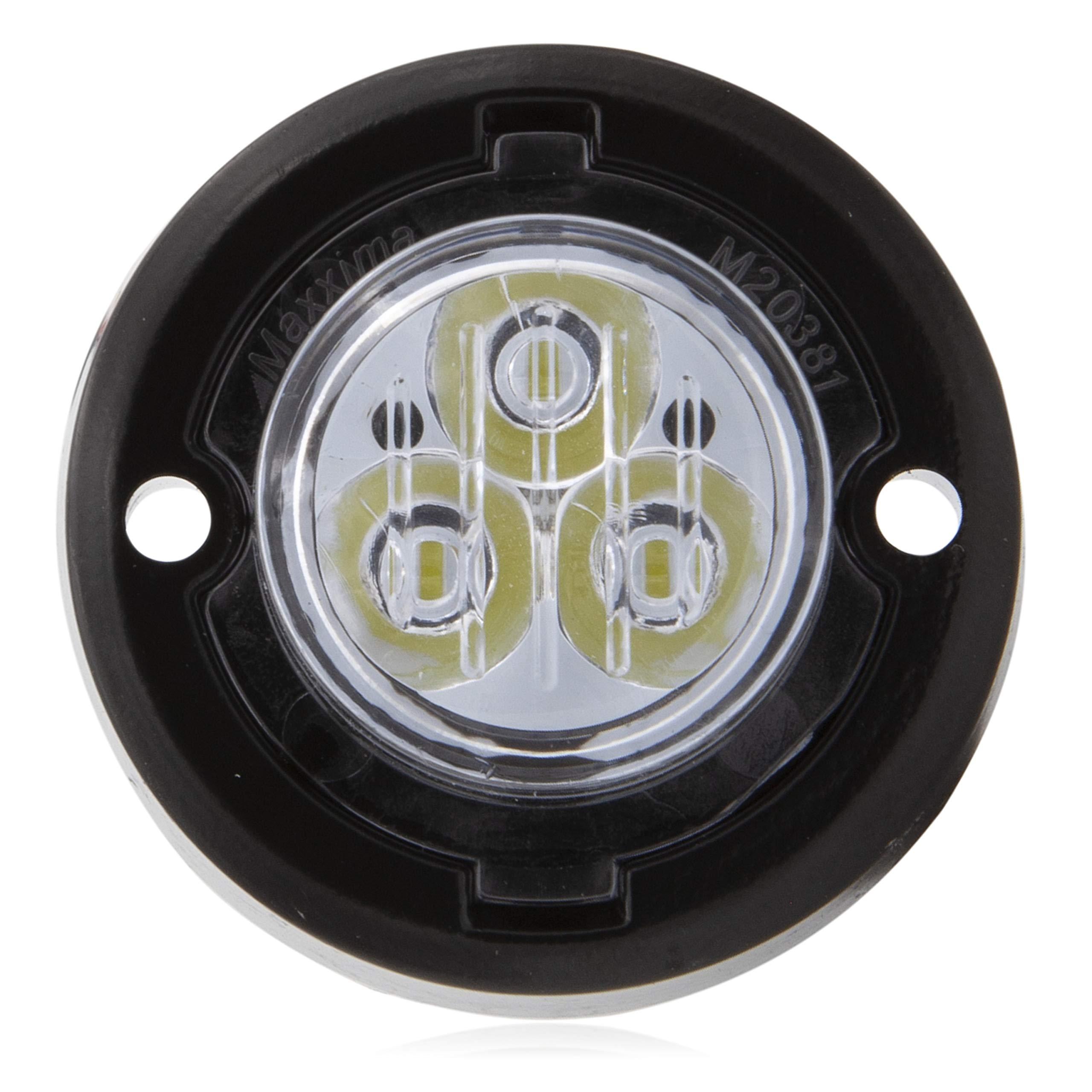 Maxxima M20381YCL 1.7'' Round Mini Class 1 Emergency Warning Light-Amber