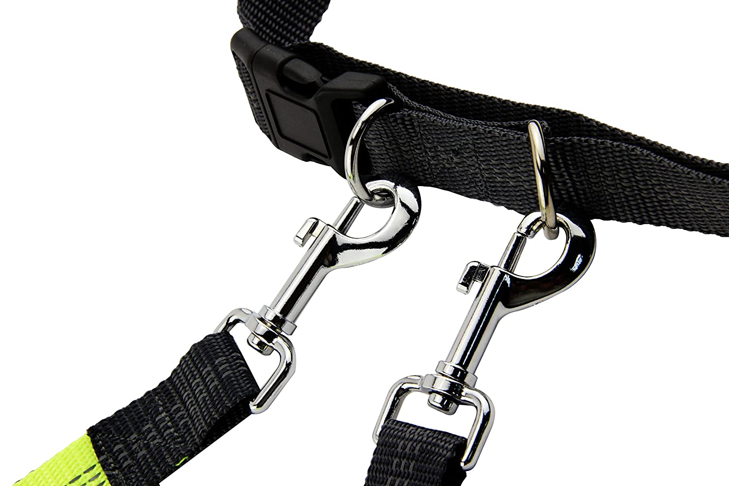 Hiking /& Biking Walking Leadrise Hands Free Dog Leash for Running Reflective Stitching Durable Dual-Handle Bungee Leash Adjustable Waist Belt Fit up to 110 lbs Large and Medium Dogs