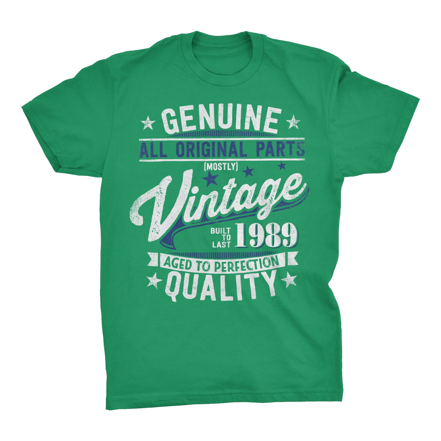 30th Birthday Gift T Shirt Genuine Vintage 1989 Aged To Perfection 3043