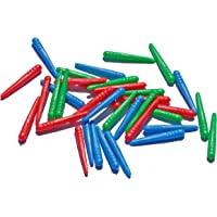 WE Games 36 Standard Plastic Cribbage Pegs w/ a Tapered Design in 3 Colors - Red, Blue & Green