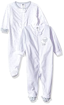 8d405c318 Amazon.com  Gerber Baby Girls  2-Pack Sleep  N Play  Clothing