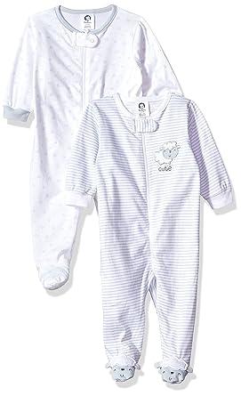 59a1ede92384 Amazon.com  Gerber Baby Girls  2-Pack Sleep  N Play  Clothing