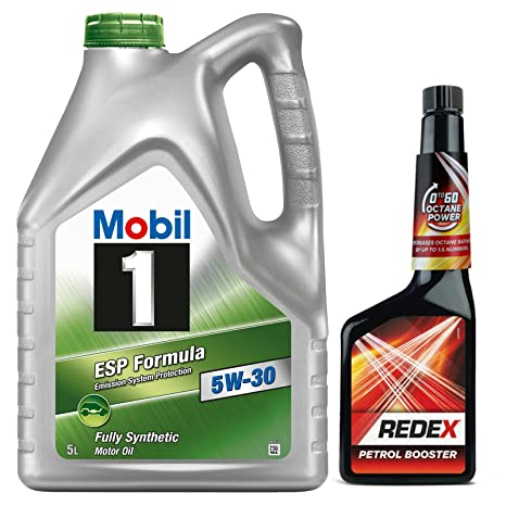 Mobil 1 5w-30 ESP Fully Synthetic Engine Oil 5 Litre + Redex Petrol 0