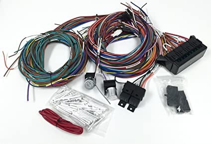 amazon com complete universal 12v 24 circuit 20 fuse wiring harness rh amazon com Hot Rod Wiring Kits Hot Rod Wiring Harness Diagram