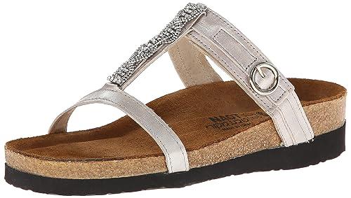 Naot Women's Malibu Wedge Sandal, Quartz Leather, 35 EU/4.5-5 M