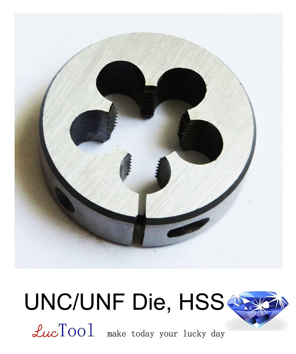 """Luctool Provides Premium Quality Hand Tools for Metal Threading. Luctool 3-48 UNC Die Round Adjustable Split Threading Die 13//16/"""" OD Inch Thread HSS"""
