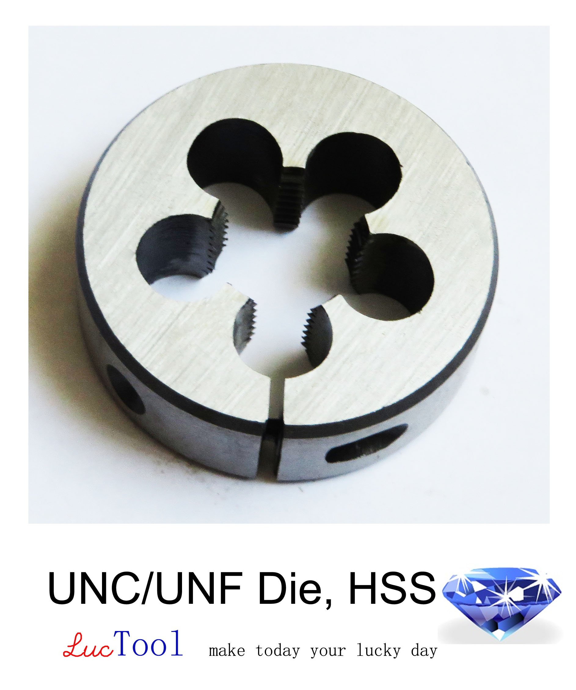 Luctool 9/16-18 UNF Die Round Adjustable Split Threading Die 2'' OD Inch Thread HSS Tool. Luctool Provides Premium Quality Hand Tools for Metal Threading. by Luctool